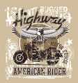 American highways rider revise vector image vector image