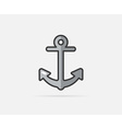Anchor can be used as Logo or Icon vector image