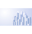 background with future city landscape vector image vector image
