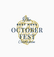 best hops octoberfest celebration abstract vector image vector image