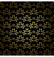 black and gold seamless pattern - vintage vector image vector image