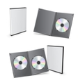 blank dvd boxes vector image vector image