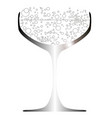 bubbly filled glass vector image vector image