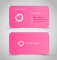 Business card set template Pink color round vector image vector image