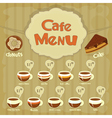 cafe menu coffee vector image vector image