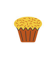 cake cupcake color icon element of christmas and vector image vector image