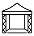 canopy scene icon outline style vector image vector image