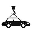 car on crane hook icon simple style vector image