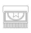 carpet icon design vector image