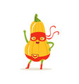 cartoon character of superhero butternut squash vector image vector image