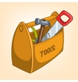 cartoon tool box vector image vector image