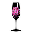 champagne pink black glass vector image vector image