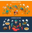 China Touristic Isometric Banners vector image vector image