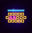 cinema hall neon sign vector image