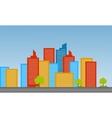Cityscape landscape flat vector image