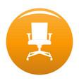 computer armchair icon orange vector image