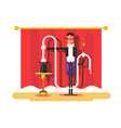 conjurer in a circus vector image