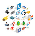 connexion icons set isometric style vector image vector image