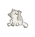 cute domestic cat cleaning its fur feline animal vector image vector image