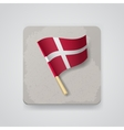 Denmark flag icon vector image