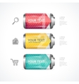 detailed glossy battery like menu vector image vector image