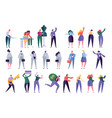 different character set design style people vector image vector image