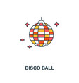 disco ball icon creative 2 colors design vector image vector image