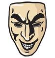 Evil smile mask vector image
