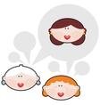 Female conversations vector image