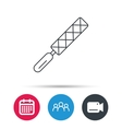 File tool icon Carpenter equipment sign vector image vector image