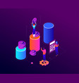 financial growth - modern colorful isometric vector image