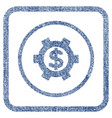financial settings fabric textured icon vector image vector image