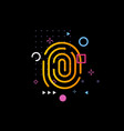 fingerprint mapping logo thumbprint scanning vector image vector image