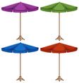 Four colorful umbrellas vector image vector image