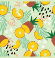 fruit seamless pattern pineapple vector image