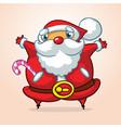 funny cartoon santa claus vector image vector image