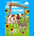 gardening and farming farmer and farm animals vector image vector image