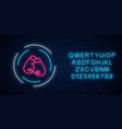 glowing neon boxing club sign in circle frame vector image
