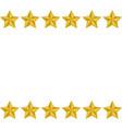 gold stars frame white background vector image