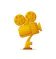 golden trophy of camera reward of winner vector image vector image