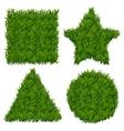 Green grass banners set vector image