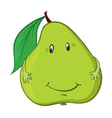 happy green pear vector image