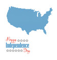 happy independence day card dotted map united vector image vector image