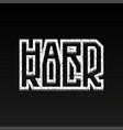 hard rock grunge vector image