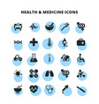 health medicine icons set vector image