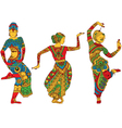 Indian dancers in the style of mehendi vector image vector image