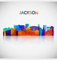 jackson skyline silhouette in colorful geometric vector image vector image