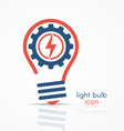 light bulb idea icon with electricity icon vector image vector image
