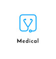line medicine icon blue emblem logo vector image