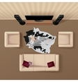Living Room Top View Realistic Image vector image vector image